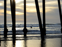 Sunset Surfing in Pismo Beach